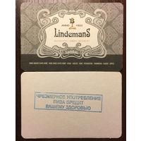 Подставка под пиво Lindemans No 4 с печатью