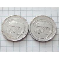 Мальта 10 центов 1986 (цена за монету)
