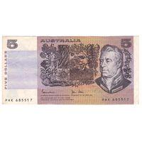 Австралия 5 долларов образца 1973 года. Редкая!