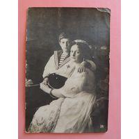 "Открытка ""Императрица Александра Федоровна и цесаревич Алексей"", 1913 г."