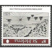 Остров Св. Елены. Старые карты Южной Атлантики. 1981г. Mi#838.
