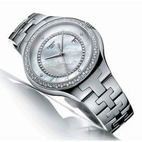 Tissot T082.210.11.088.00 (replica) женские наручные часы с искусственными бриллиантами