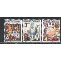 Иллюстрации к детским книгам Чехословакия 1985 год 3 марки