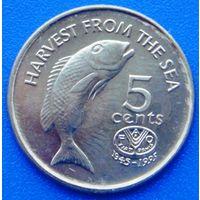 6588:  5 центов 1995 Фиджи