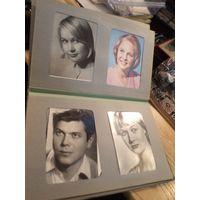 Старый фотоальбом с 47 открытками актеров
