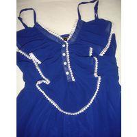 Платье синее 46 марк М