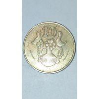 Кипр 10 центов 1994