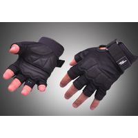 Тактические перчатки Hand Crew короткие пальцы черные