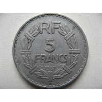 Франция 5 франков 1947 г. В
