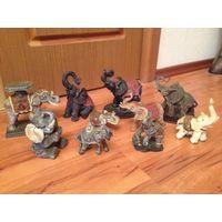 Коллекция слонов (10шт)цена за 1шт