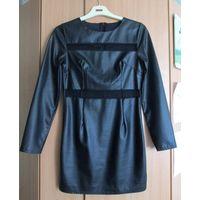 Платье женское кожаное 42 р