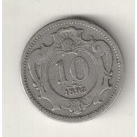 Австрия 10 геллер 1893 2
