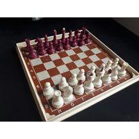 Старые советские походные шахматы на магнитах