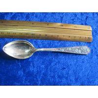 Ложка чайная 14,5 см 875 пр. с позолотой и эмалью.