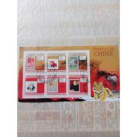 Гвинея 2009. Китайские марки. Марка в марке