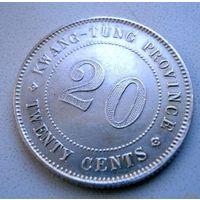 Китай (республика). Провинция Кванг-Тунг. 20 центов 1912 г.