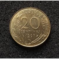 Франция, 20 сантим 1997