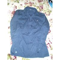 Блузка-рубашка тёмно-синяя фирменная р. 140-152