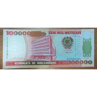 100000 метикал 1993 года - Мозамбик - UNC