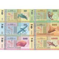 Бонайре Набор 6 банкнот 2015 год UNC