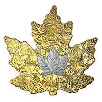 """RARE Канада 200 долларов 2018г. """"30-летие платинового кленового листа"""". Монета в капсуле; подарочном футляре; номерной сертификат; коробка. ЗОЛОТО 31,25гр.(1 oz)."""