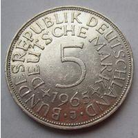 ФРГ. 5 марок 1965 J, Серебро