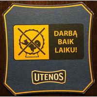 Подставка под пиво Utenos No 11