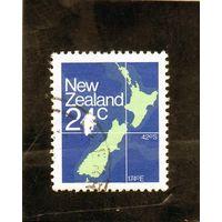 Новая Зеландия. Карта острова.