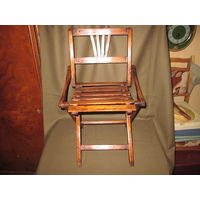 Складной старинный антикварный стульчик.30-40-е года.