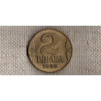 Югославия 2 динара 1938/Xx