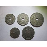 Набор монет старой Бельгии. Распродажа