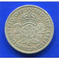 Великобритания 2 шиллинга 1943 , серебро