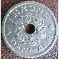 1 крона 1992 Дания KM# 873.1