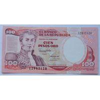 Колумбия 100 Песо 1991, UNC 825, 827