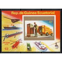 Экваториальная Гвинея / Почтовый Транспорт / Поезд / Корабль / Самолет / Чистый Блок Б/З