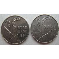 Финляндия 10 пенни 1990, 1991 гг. Цена за 1 шт. (v)