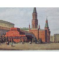Красная площадь Ленин Сталин мавзолей 1955