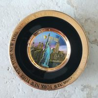 Тарелка NY (24kt Gold)