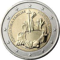 2 евро 2014 Португалия Международный год семейных фермерских хозяйств UNC из ролла