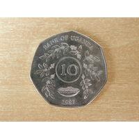 Уганда 10 шиллингов 1987 г.