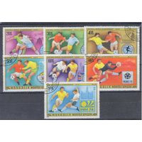 [243] Монголия 1978.Спорт.Футбол.  Гашеная серия.