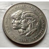 Великобритания 25 пенсов, 1981 Свадьба принца Чарльза и леди Дианы  1-6-5