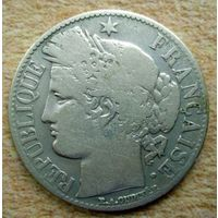 Франция. 1 франк 1887 г.