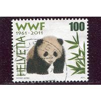 Швейцария. 50 лет WWF.  Панда