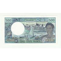 Новые Гебриды 500 франков 1970 года. Тип P19b. Вариант подписей 2. Состояние UNC! Редкая!