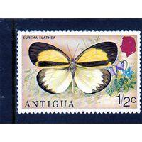 Антигуа.Ми-381.Желтая трава (Eurema elathea) .Серия: Бабочки.1975