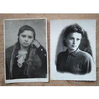 Девушки 1950-х. 2 фото. 9х12 см. Цена за оба.