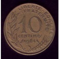 10 сантимов 1964 год Франция