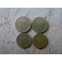 Набор 2 монеты: 10 тенге, 20 тенге Туркменистан