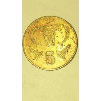 Кипр 5 центов 2004